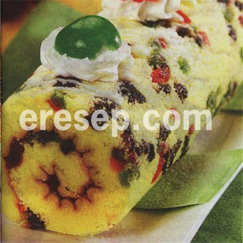 Fruit Mix Roll Cake