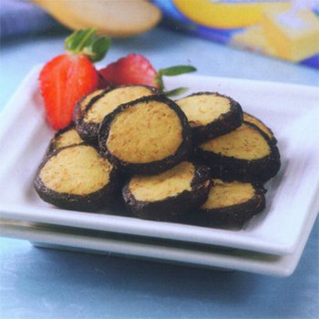 Roll chocolate cheese cookies